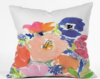 Floral Frenzy Indoor Throw Pillow