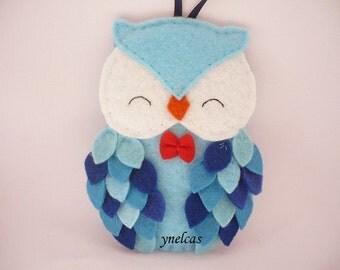 Felt owl ornament - felt Christmas ornament - Christmas owl decoration - Personalized Owl Ornament