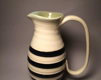 Striped seafoam pitcher