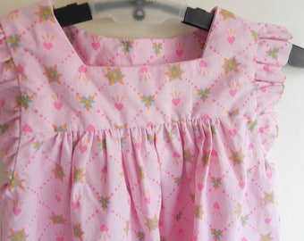 Toddlers pink hearts and flowers dress size 3T