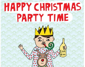 Christmas Cards - Happy Christmas Party Time