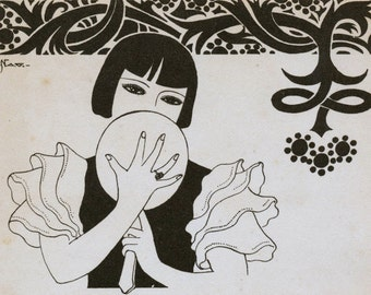 Vintage Japanese Art Deco Prints - No. 54
