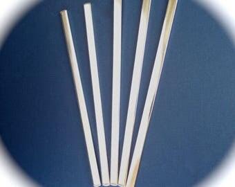 60 Cuff Blanks 1/4  x 6 Inch 14 Gauge Polished Cuff Food Safe Aluminum Bracelet Blank - 60 Cuffs - FLAT - Made in USA