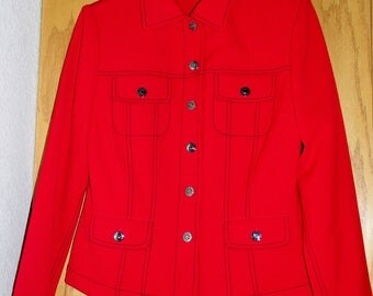 ST JOHN Sport by Marie Gray Red Jacket Size S