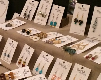 Lot of 10 Handmade Earrings for One Price SALE from Show Inventory 2016 by BeckyPaints