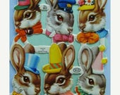 ONSALE Vintage Bunnies English Die Cuts Lot Great for Alerted Art Collage Easter