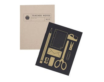 Teacher Pocket Notebook Set - Journal | Blank Pages | Stitch Bound