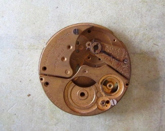 Vintage pocket Watch movement parts - Pocket watch plates Steampunk - Scrapbooking x89