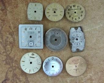 Vintage Antique Watch  Assortment Faces - Steampunk - Scrapbooking f11