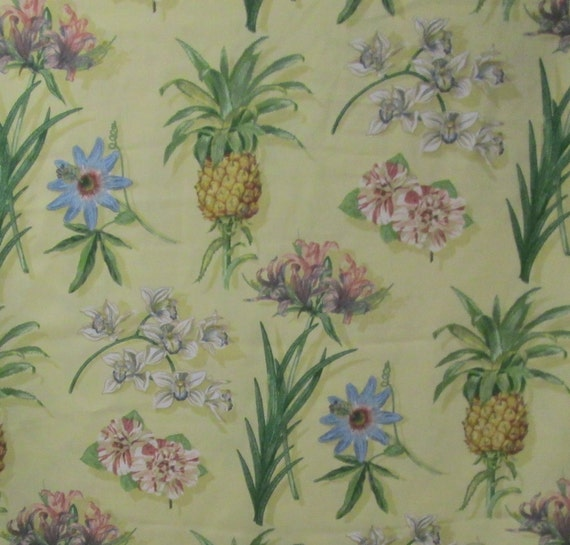 Tropical Fabric 3.66yd Indoor Outdoor Home Decor Fabric 4 Pillow ...