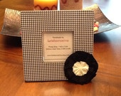 Photo frame.. Picture frame.. Black and White Houndstooth ... Great hostess or Birthday gift.. In stock, ready to ship