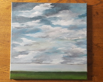 Storm Brewing 12x12 Original Acrylic Painting On Canvas