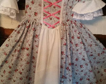 Girl Colonial Dress Ready TO SHIP SIZE 10/12