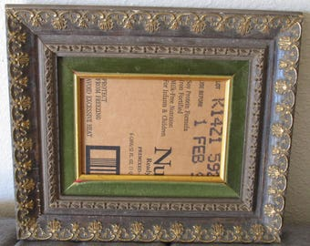 Wooden Picture Frame Carved Wood Wall Art Frame Shabby Chic Gilt Gold 5 x 7 Opening