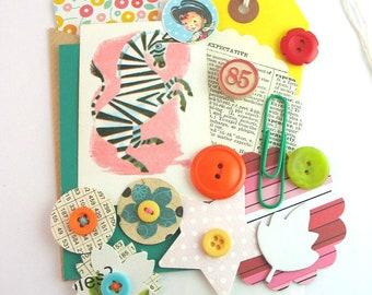 MINI Inspiration Kit, 20pcs, Junk Journal Kit, Smash Book Kit, Craft Kit, DIY Journal, Scrapbook Kit, Vintage Ephemera, Scrapbooking Collage