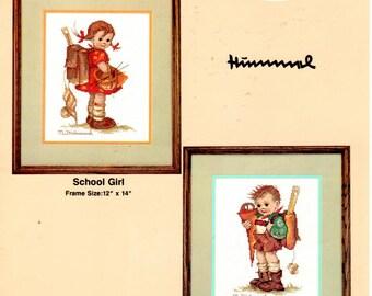 Cross Stitch Pattern Leaflet 584025 - Hummel School Mates - School Girl - Little Scholar