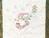 Winters Day for Seasons embroidery quilt Pattern