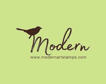 Custom Rubber Stamp   Custom Stamp   Personalized Stamp   Name with Bird Stamp   Name Stamp   Script Stamp   Bird Stamp   C73