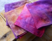 Rainbow tie dye napkins