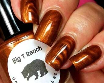 """Magnetic Nail Polish - Bronze - """"Cat's Eye"""" - Magnet Included - Full Size 15ml Bottle"""
