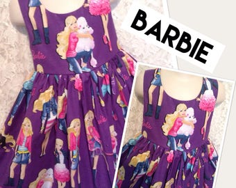 Barbie and Friends * classic jumper style dress CUSTOM SIZES 2 3 4 5 6 7 8 10 12 14 - your choice sewnbyrachel