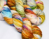Hand Dyed Speckled Sock Yarn - SW Sock 80/20 - Superwash Merino Nylon - 400 yards  - Rumble in Brighton