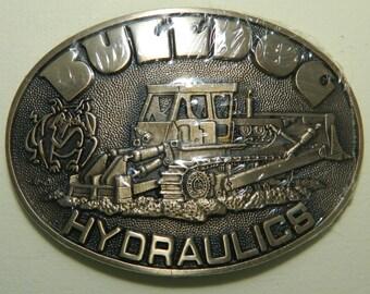 Vintage Bulldog Hydraulics Solid Brass Belt Buckle Award Design Metals Oklahoma New In Packaging Bulldog Belt Buckle Bulldozer Belt Buckle