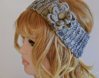 Valentines Day, Knitted Headband Ear, 7T - Adult Warmer Chunky Knit Hairband