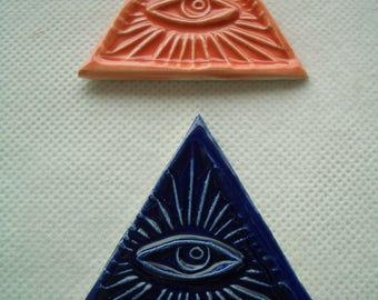 MYO - PYRAMID Eye of Providence TRIANGLES -  Ceramic Mosaic Tiles Set