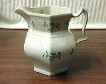 Staffordshire Sprig Porcelain Pitcher