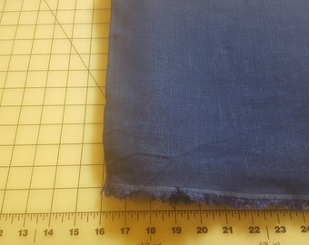 Rayon Linen Look Suiting Royal Blue almost 2-1/2yd see description
