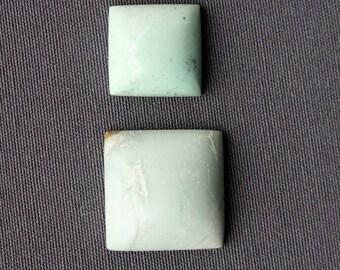 Variscite Stone Cabochon Pair