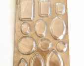 Tim Holtz Idea-Ology Clear Facet Charms - Chandelier Charms - Acrylic - Faceted Gems