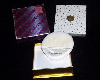 Vintage Rare HARRIET HUBBARD AYER Golden Chance Unopened Body Dusting Powder Orig Boxes