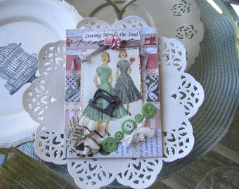 Sewing-themed Card - Seamstress Card - Card for Quilter - Card for Crafter