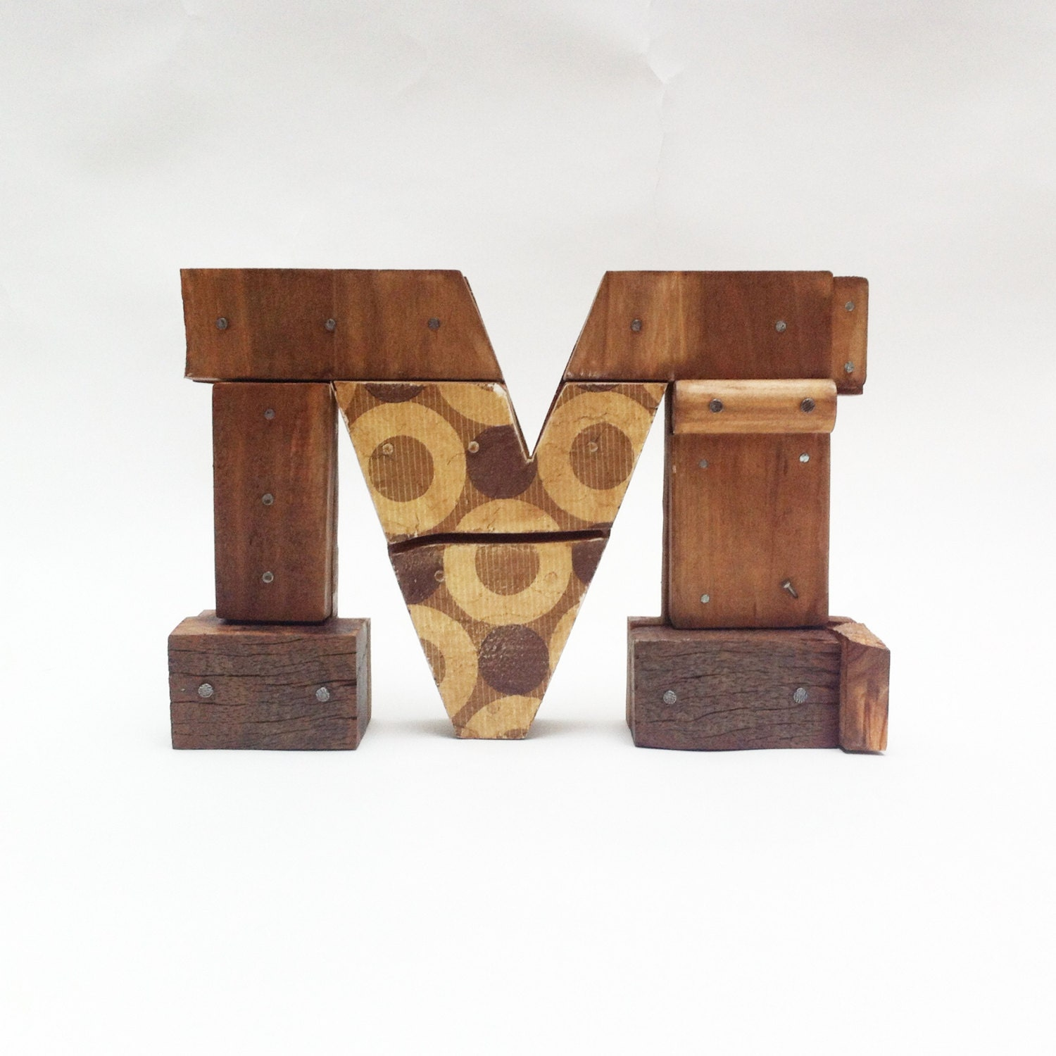 wooden letters m industrial letters wall hanging
