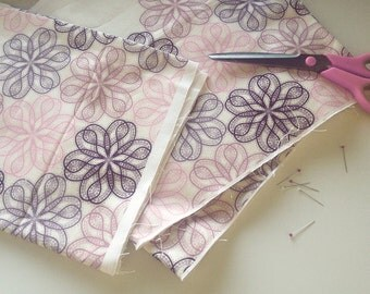 100% Cotton Fabric - 'Lace' Design by Mel Smith Designs / Cotton Length / Vintage Style Fabric / Paisley Pattern / Paisley Fabric