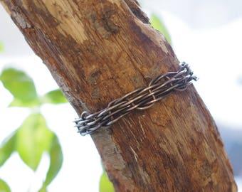 Steel, Woven Wire, Jewelry, Cuff