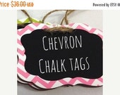 Get Organized Sale- 6 Chevron Chalkboard Tags with Chalkboard Labels - set of 6 - Basket Labels, Gift Tags, Wedding Chalkboards  26 COLORS