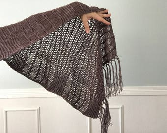 Summer Shawl, Hand Knit Wrap - Summer Scarf - 7 colors to choose from - made to order knitting