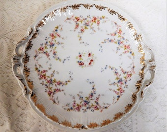 German Altwasser Silesia Cake Plate Delicate Design
