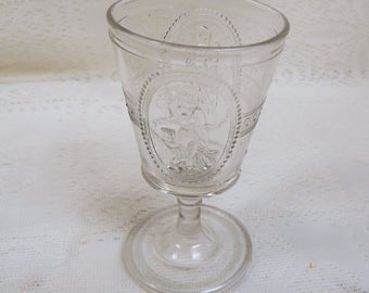 Antique EAPG Cupid and Venus Wine /Cordial Clear
