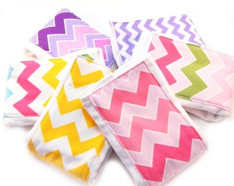 Girl Burp Cloths set of 6 - Your Choice Chevron Diaper Burp Cloths // Cotton Burp Cloth // Baby Shower Gift // Gift for baby