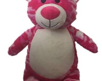 Personalized Camouflage Bear, Camo Stuffed Teddy Bear, Military Bear, Keepsake Gift