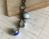 Custom Order for Becky, Marble Necklace