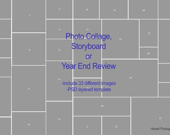 Storyboard template photoshop etsy for Year end review template
