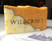 Handmade Soap - Wild Orange with Calendula Pedals. Infused with Orange Essential Oil. 1 Bar