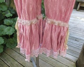 GARAGE SALE..!!  Vintage Kitty.. gorgeous crushed velvet, dusky pink bloomers.., vintage style, victorian.. shabby chic..  Xsmall