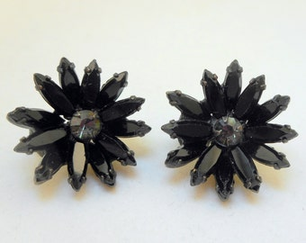 Vintage Black Earrings