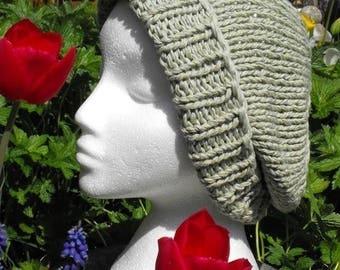 50% OFF SALE Instant Digital pdf download knitting pattern Sage Superfast Slouch Beanie hat pdf knitting pattern - MADMONKEYKNITS